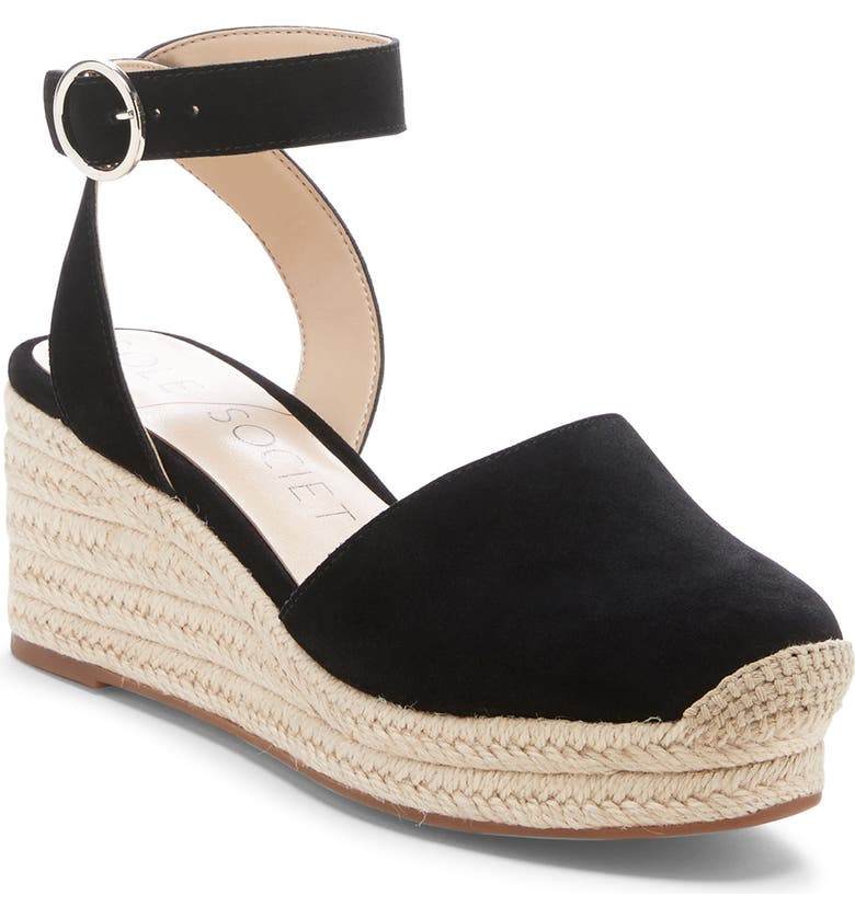 SOLE SOCIETY Channing Espadrille Sandal, Main, color, 001
