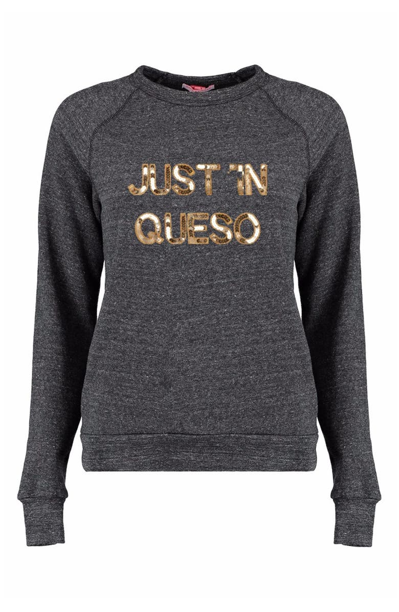 BOW & DRAPE 'Just In Queso' Sweatshirt, Main, color, 050