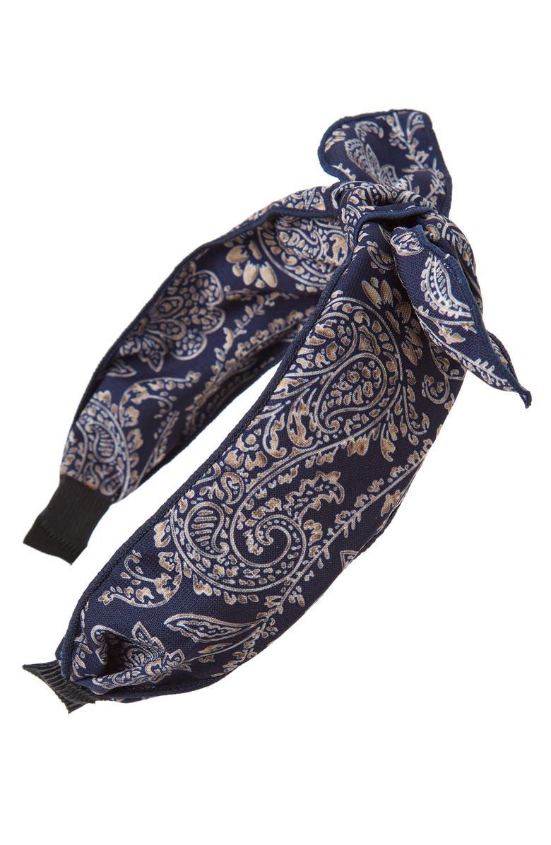 TASHA Paisley Knot Headband, Main, color, 400