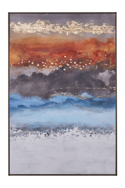 """Image of Willow Row Multicolored Hand Painted Canvas Wall Art - 32"""" x 47"""""""
