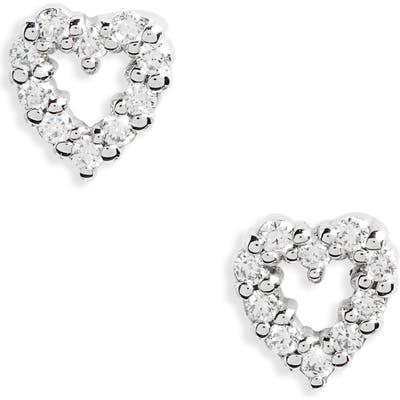 Roberto Coin Diamond Heart Earrings
