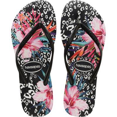 Havaianas Slim Animal Floral Flip Flop