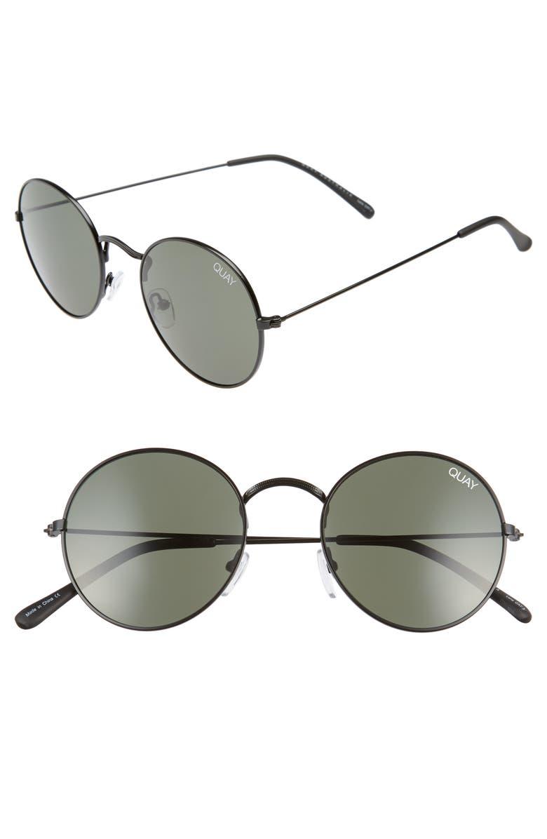 QUAY AUSTRALIA 50mm Mod Star Round Sunglasses, Main, color, 014