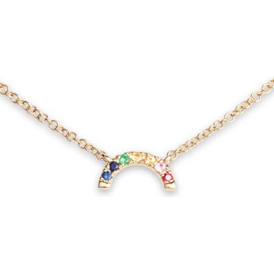 Ef Colllection Rainbow Pendant Necklace