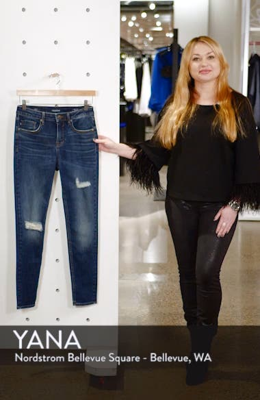Marley High Waist Ripped Skinny Jeans, sales video thumbnail