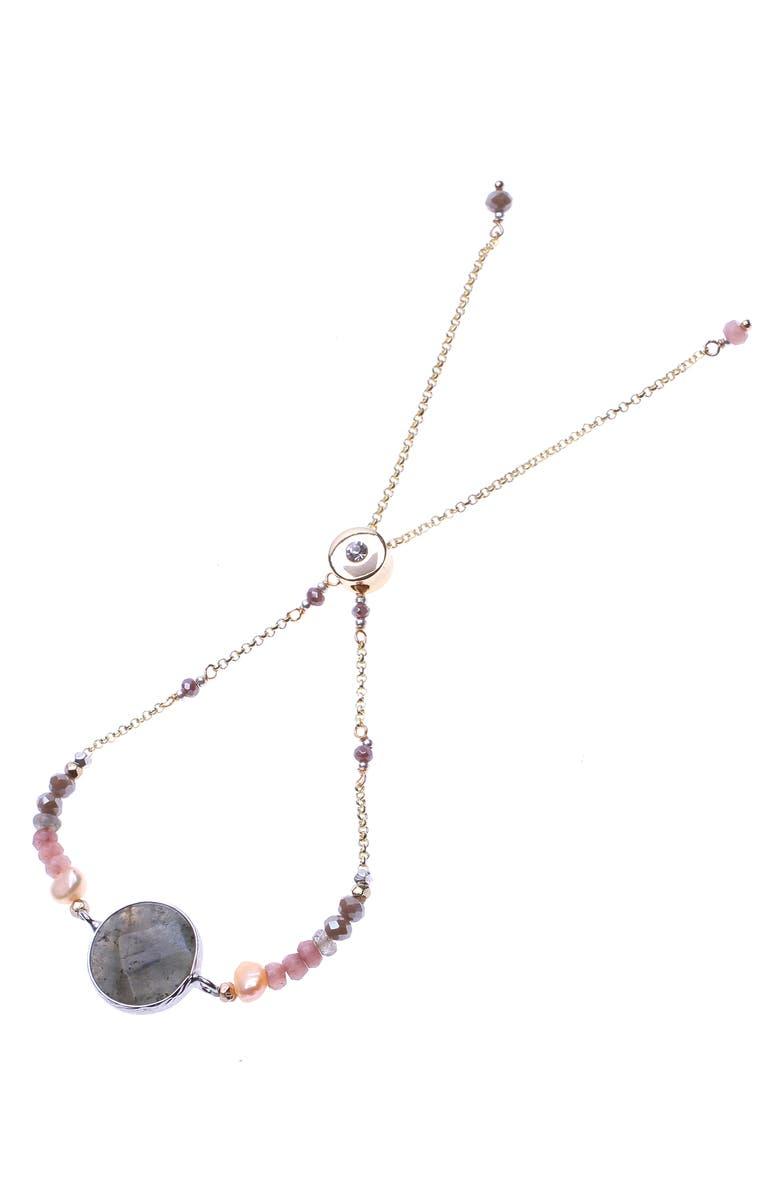 NAKAMOL DESIGN Pendant Bracelet, Main, color, GOLD