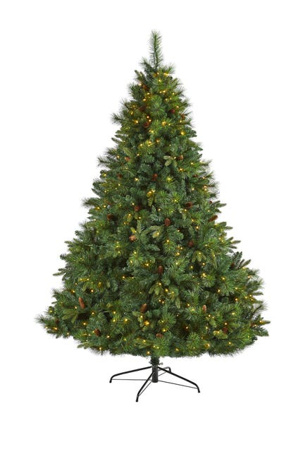 Image of NEARLY NATURAL 7ft. West Virginia Full Bodied Mixed Pine Artificial Christmas Tree