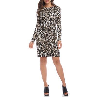 Karen Kane Leopard Print Sheath Dress, Brown