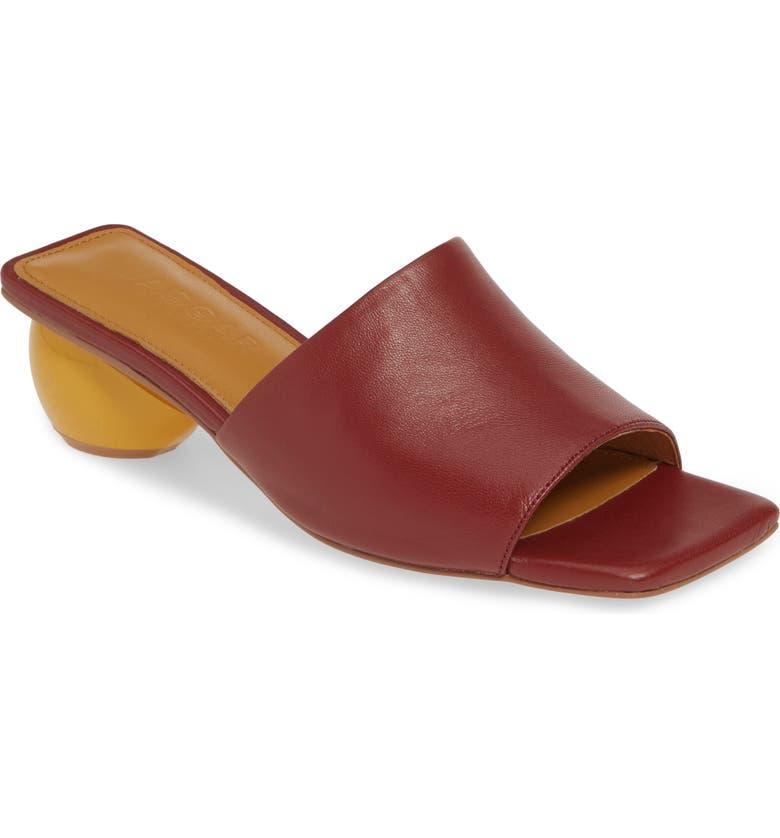 JAGGAR Ball Heel Slide Sandal, Main, color, RED LEATHER