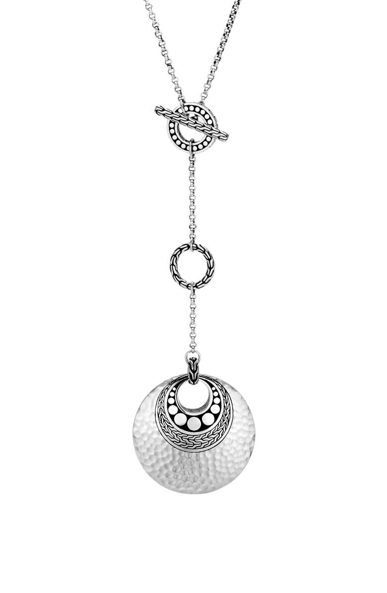 JOHN HARDY Dot Hammered Y-Necklace, Main, color, 040
