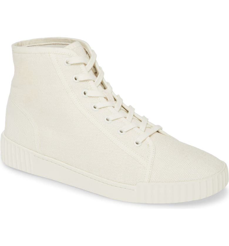 VINCE Wolfe High Top Sneaker, Main, color, WHITE