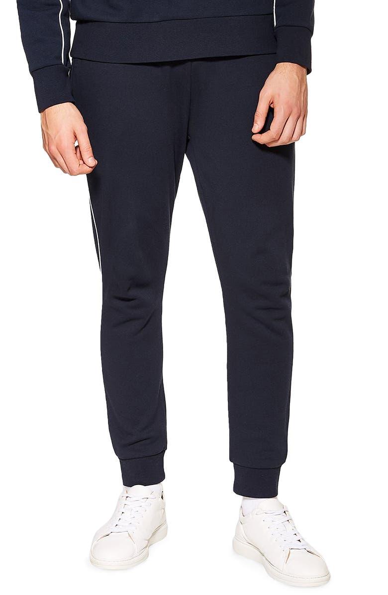 TOPMAN Piped Jogger Pants, Main, color, 411