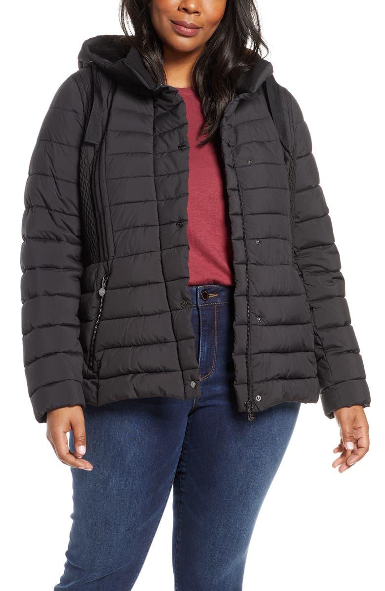 506b229ce Bernardo Packable Hooded Jacket (Plus Size) | Nordstrom
