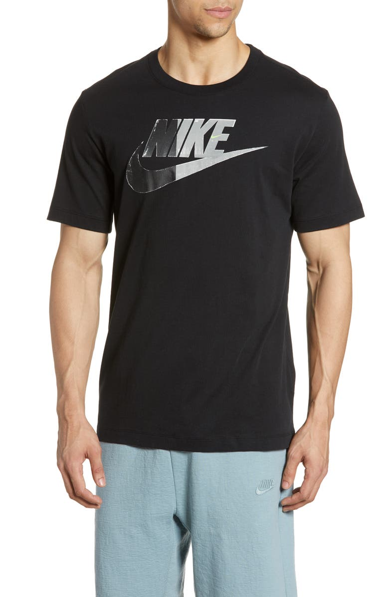 NIKE Sportswear Logo T-Shirt, Main, color, BLACK