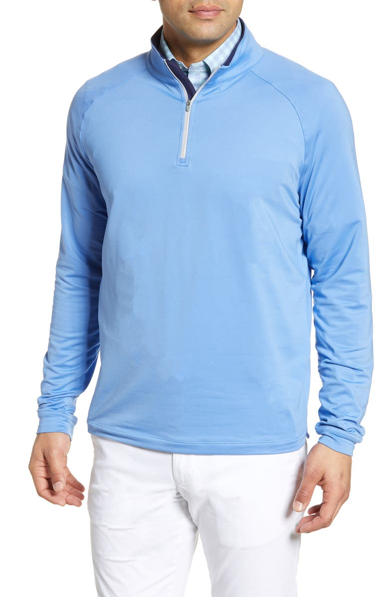 PETER MILLAR Springs Stretch Chamois Quarter Zip Pullover, Main, color, 401