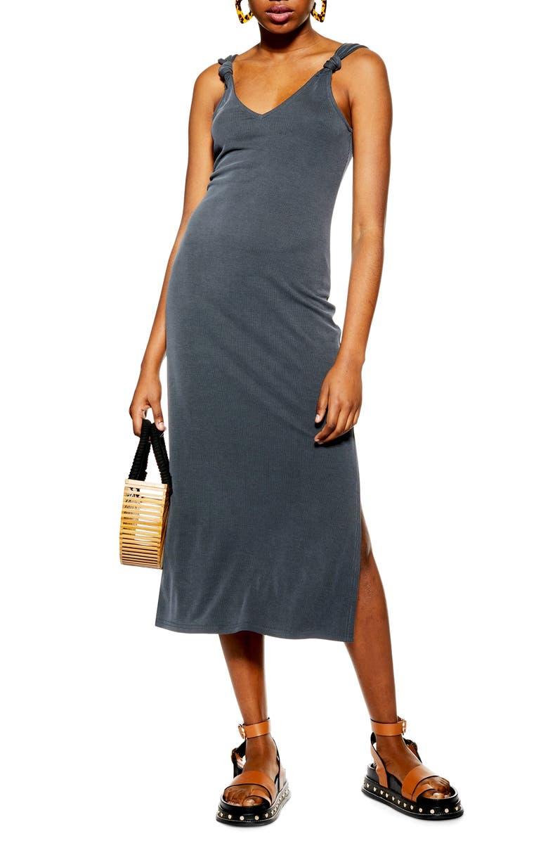 TOPSHOP Midi Dress, Main, color, NAVY BLUE