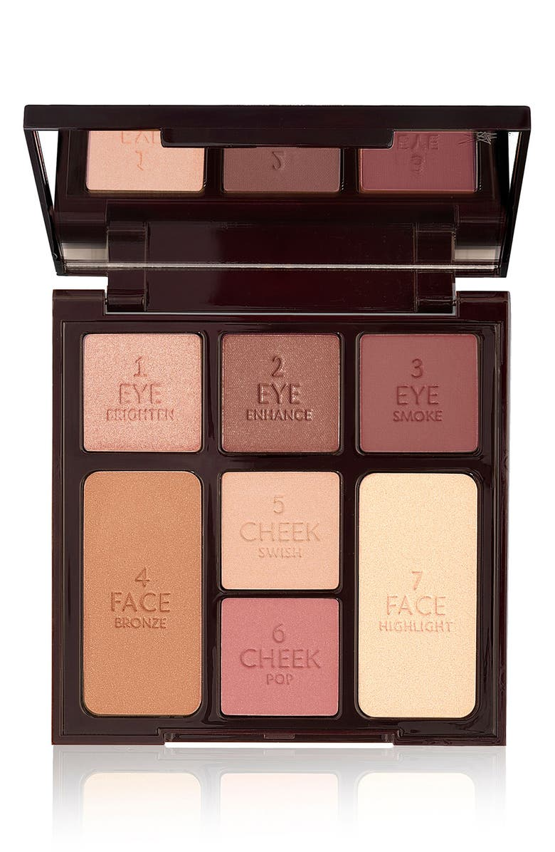 CHARLOTTE TILBURY Instant Look in a Palette Gorgeous Glow Complete Face Palette, Main, color, 000