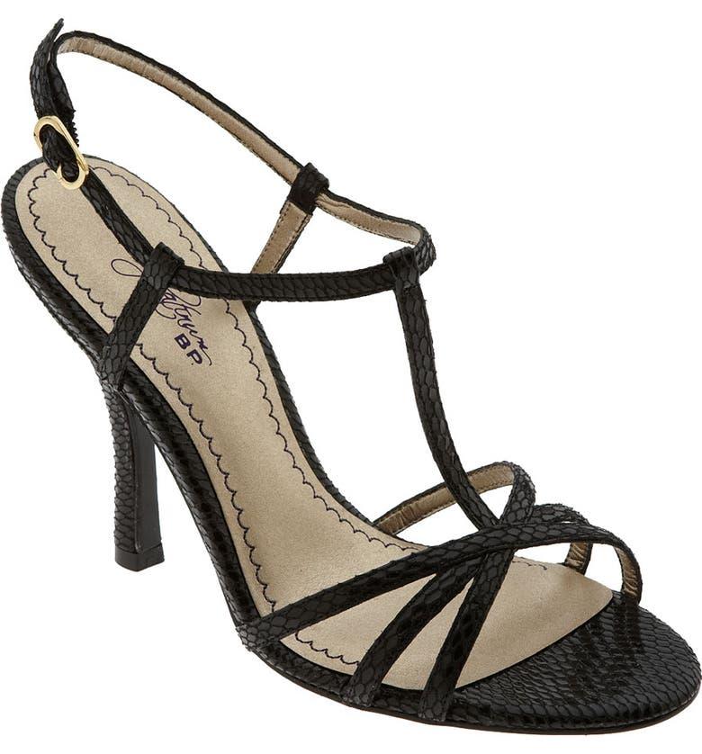 BP. Platinum 'Amber' Sandal, Main, color, 001