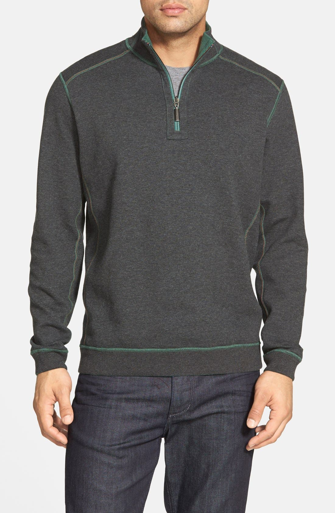 ,                             'Flip Side' Reversible Quarter Zip Pullover,                             Alternate thumbnail 55, color,                             302