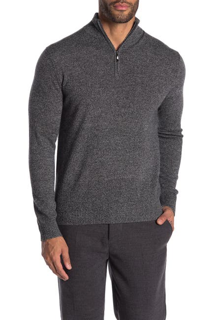 Image of Quinn Cashmere Half Zip Sweater