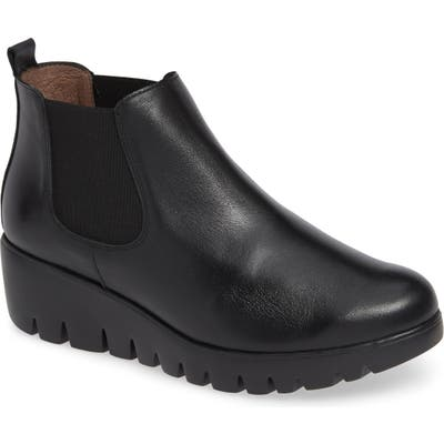 Wonders Slip-On Chelsea Boot - Black