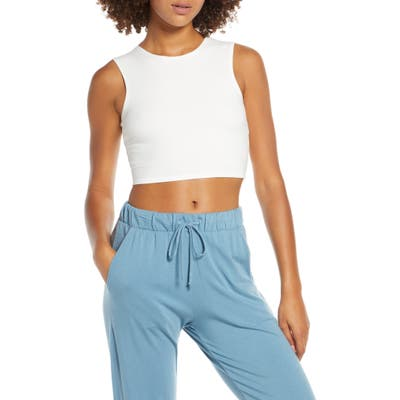 Groceries Apparel Embarcadero Crop Top, White