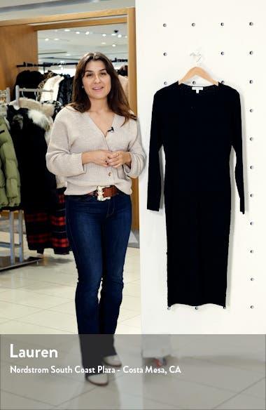 Deep V Leopard Long Sleeve Body-Con Dress, sales video thumbnail