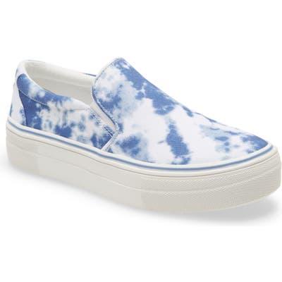 Steve Madden Gills Platform Slip-On Sneaker- Blue