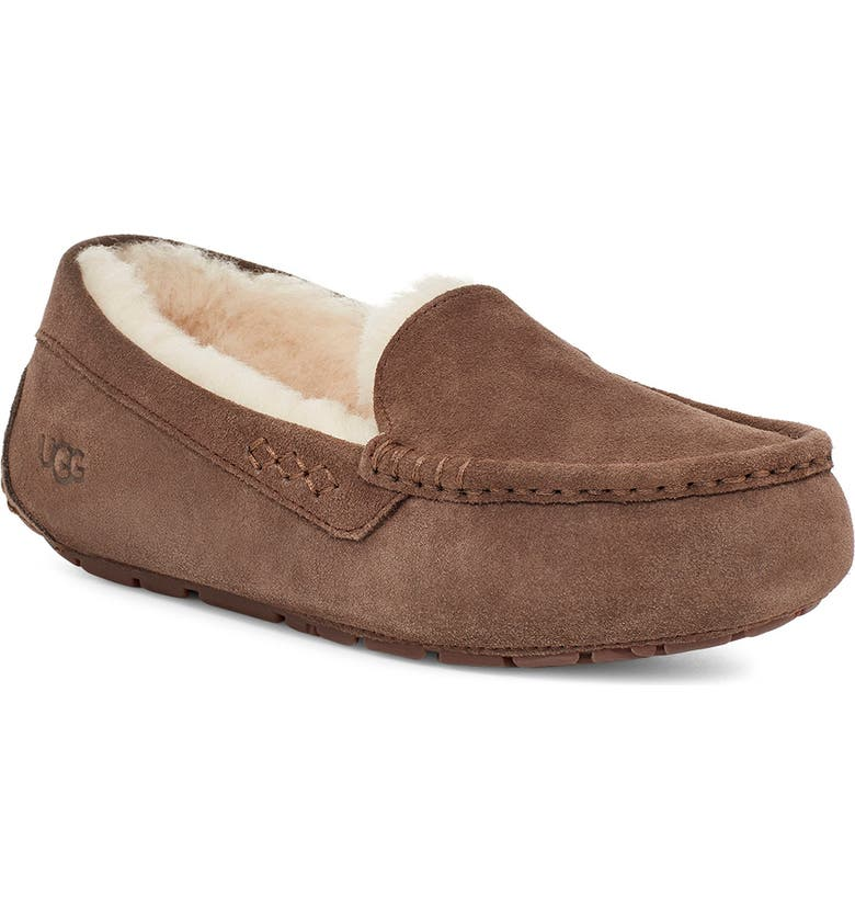 UGG<SUP>®</SUP> Ansley Water Resistant Slipper, Main, color, ESPRESSO SUEDE