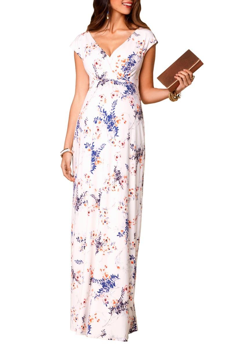 TIFFANY ROSE Alana Maternity/Nursing Maxi Dress, Main, color, JAPANESE GARDEN
