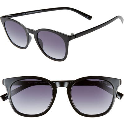Le Specs Fine Specimen 51Mm Square Sunglasses - Black/ Smoke Gradient