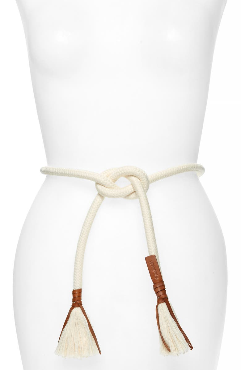 MADEWELL Rope Belt, Main, color, 900