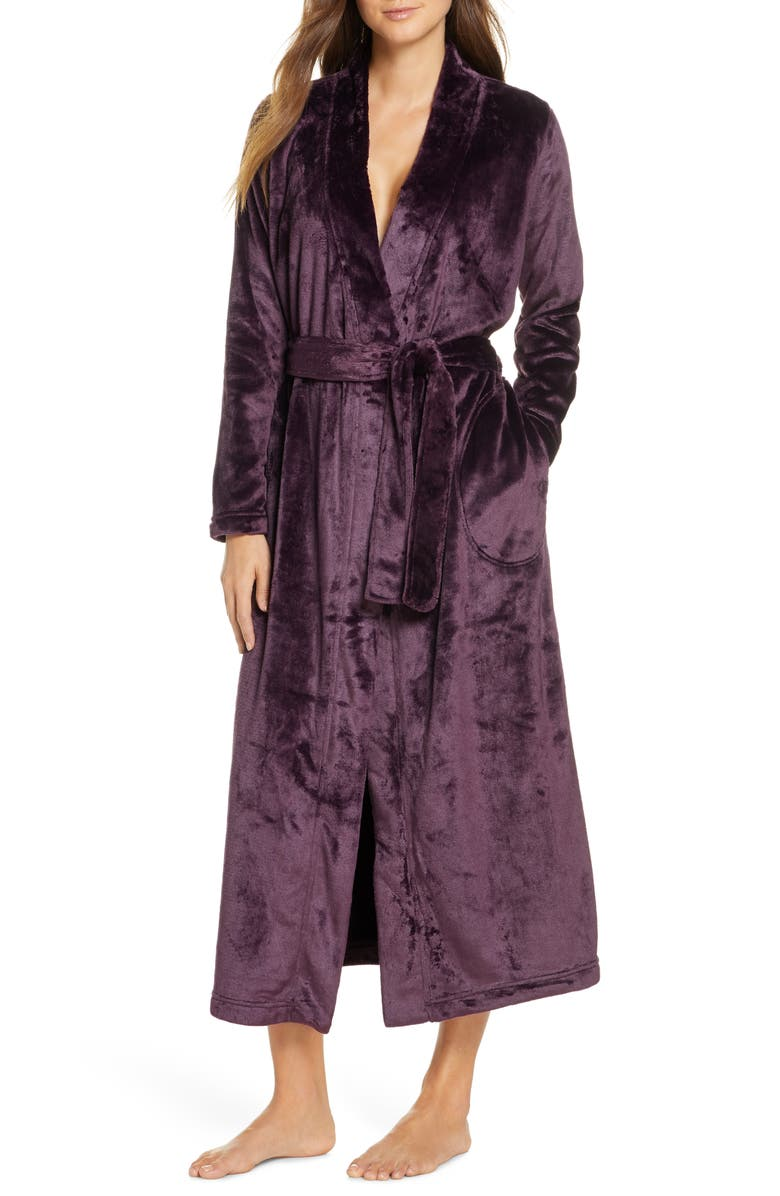 UGG<SUP>®</SUP> Marlow Double-Face Fleece Robe, Main, color, PORT