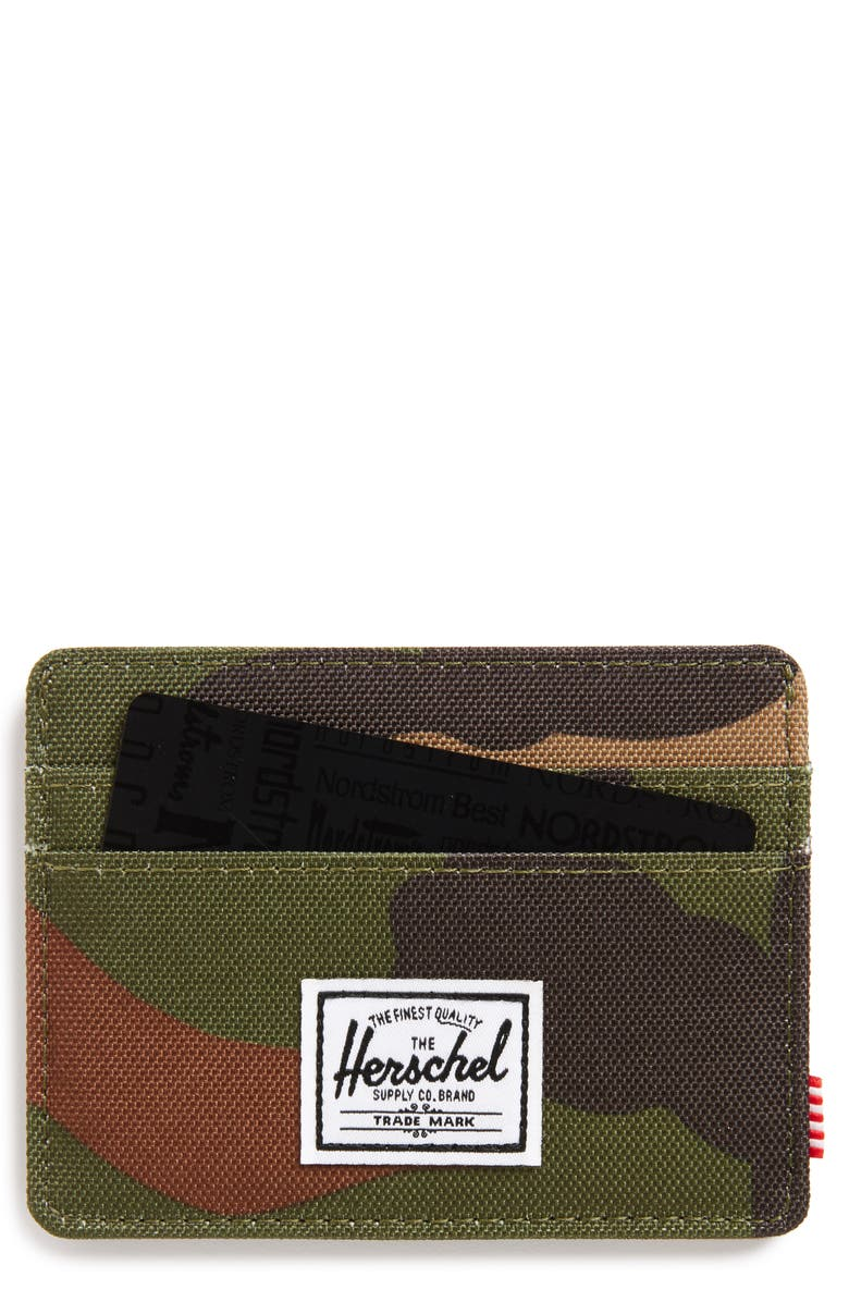 HERSCHEL SUPPLY CO. Charlie RFID Card Case, Main, color, CAMO