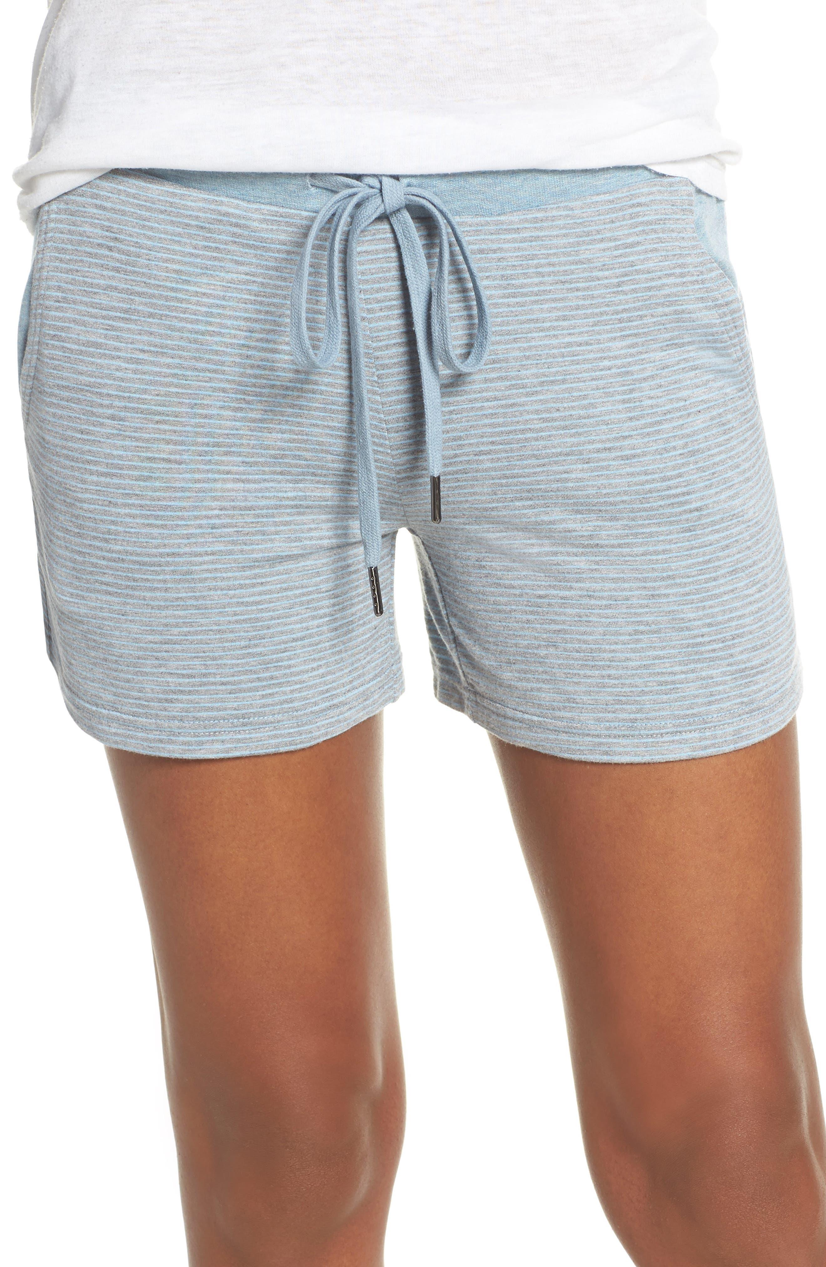 Felina Camilla Terry Pajama Shorts, Blue