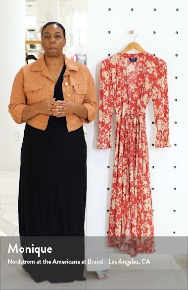 Harlow Floral Wrap Dress, sales video thumbnail