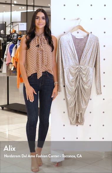Cilty Long Sleeve Body-Con Dress, sales video thumbnail