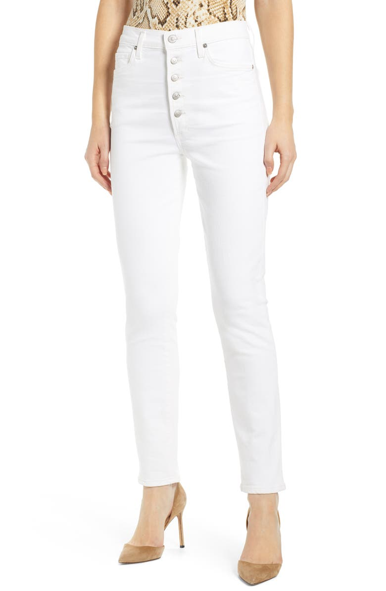 CITIZENS OF HUMANITY Olivia Button Fly High Waist Slim Jeans, Main, color, UNVEIL
