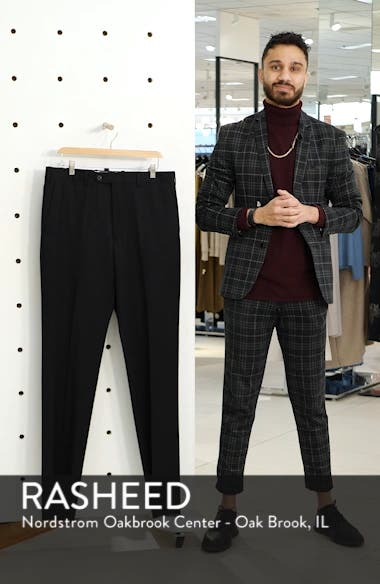 Torino Classic Fit Flat Front Solid Dress Pants, sales video thumbnail