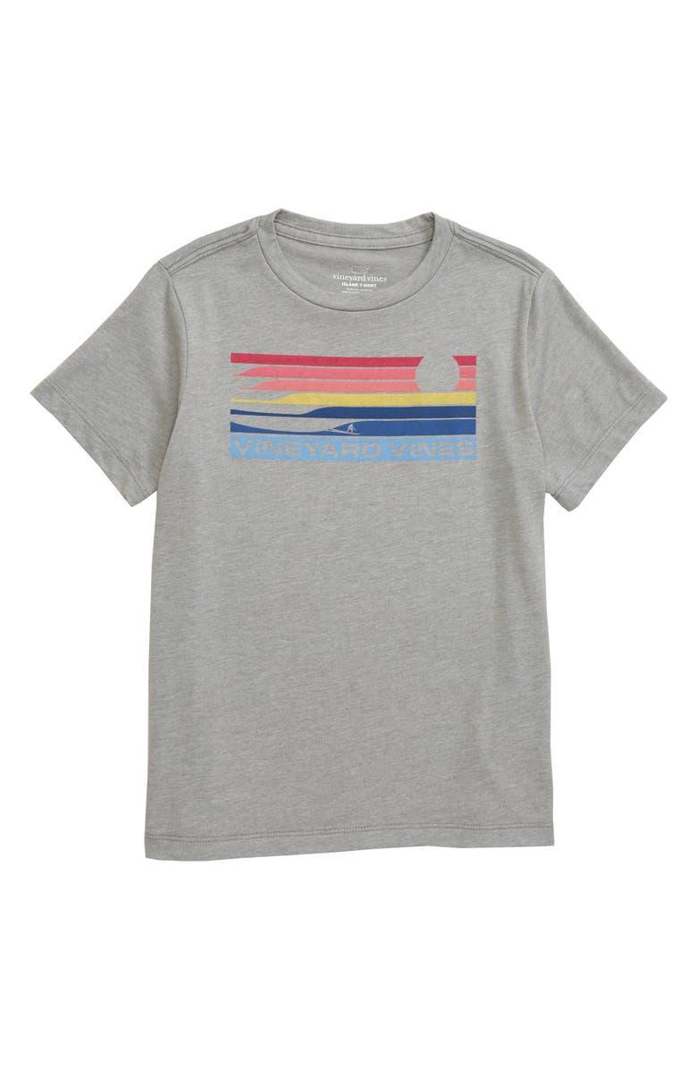 VINEYARD VINES Surf Stripe Island T-Shirt, Main, color, 039