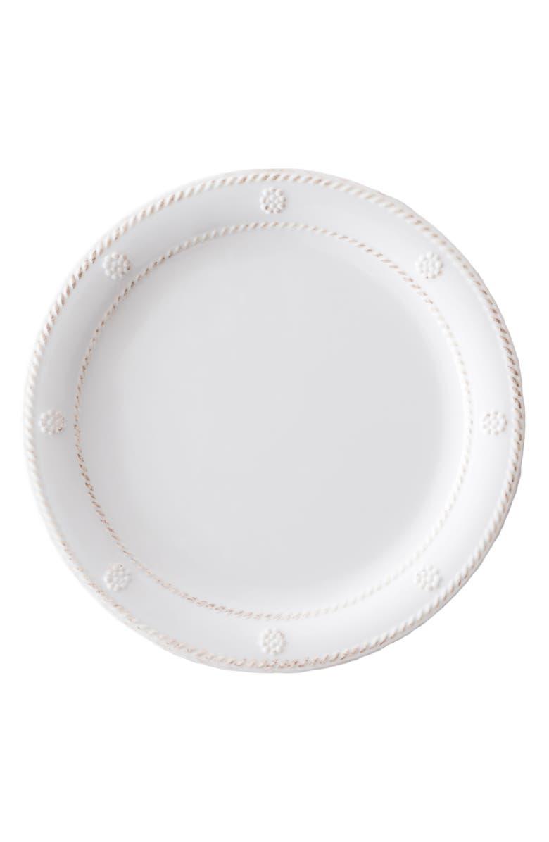 JULISKA Berry & Thread Melamine Dessert Plate, Main, color, WHITEWASH