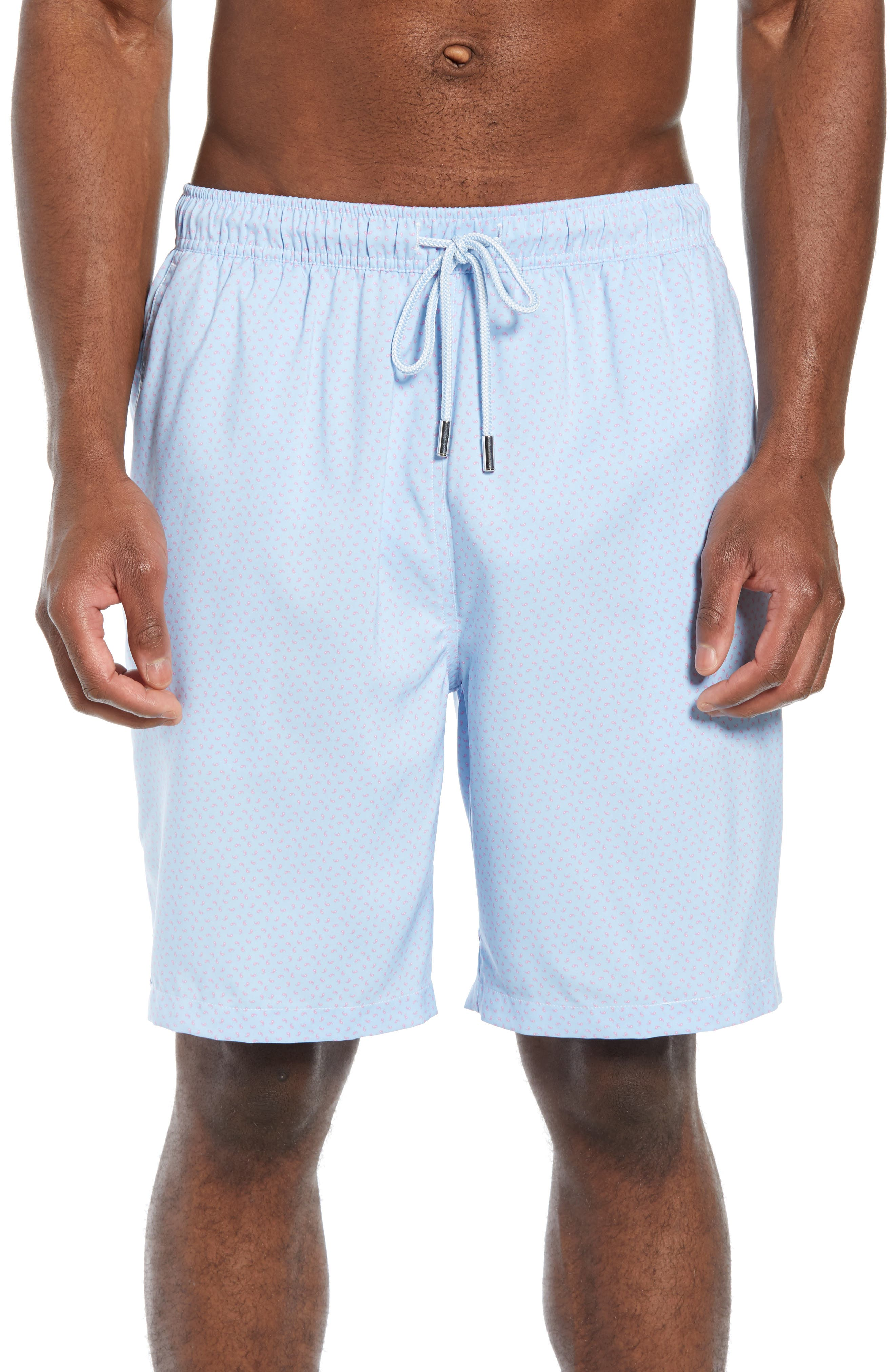 Peter Millar Sea Monkeys Print Swim Trunks, Blue