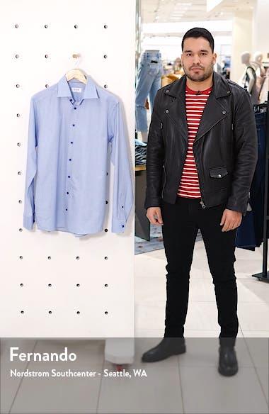 Slim Fit Microdot Print Dress Shirt, sales video thumbnail