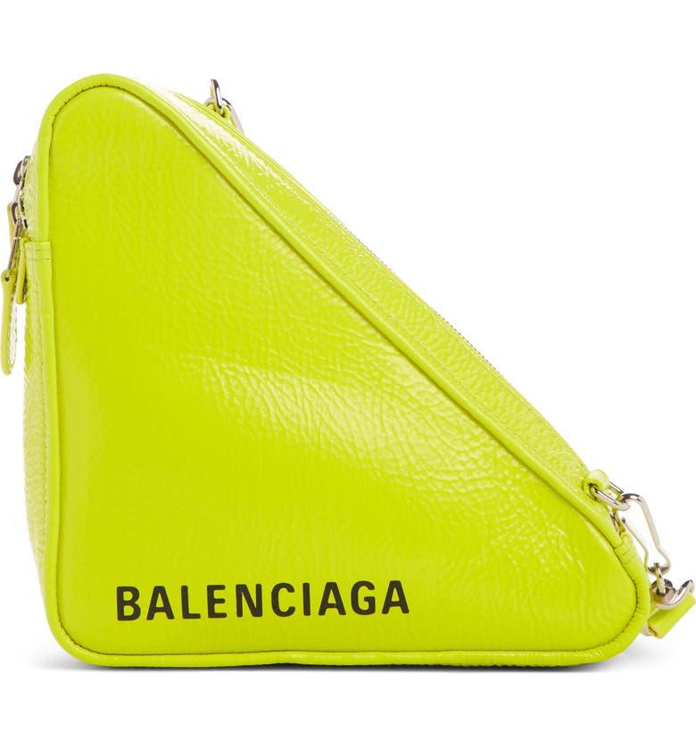 BALENCIAGA Triangle Calfskin Crossbody Bag, Main, color, 320
