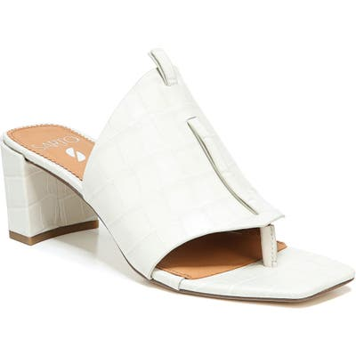 Sarto By Franco Sarto Nina Slide Sandal- White
