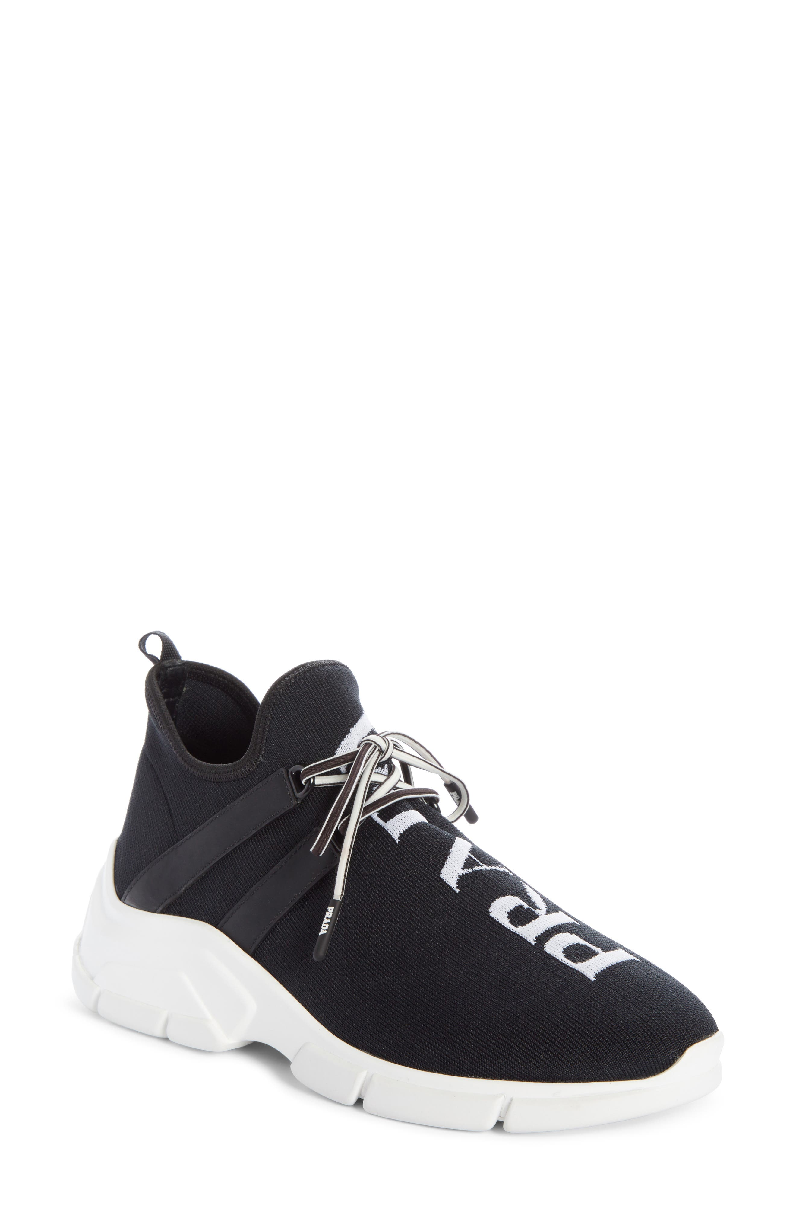 Prada XY Logo Sock Sneaker (Women
