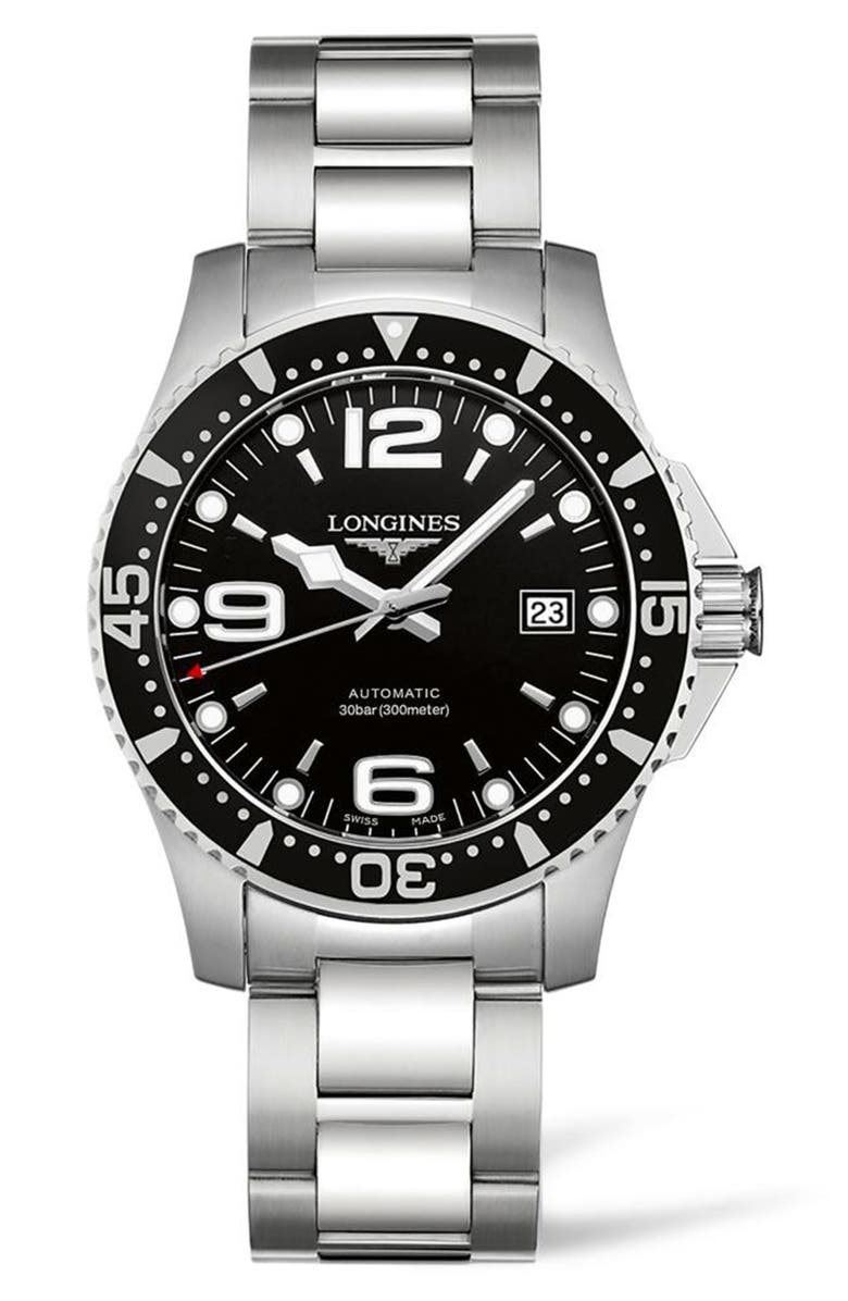 LONGINES HydroConquest Automatic Bracelet Watch, 41mm, Main, color, 040