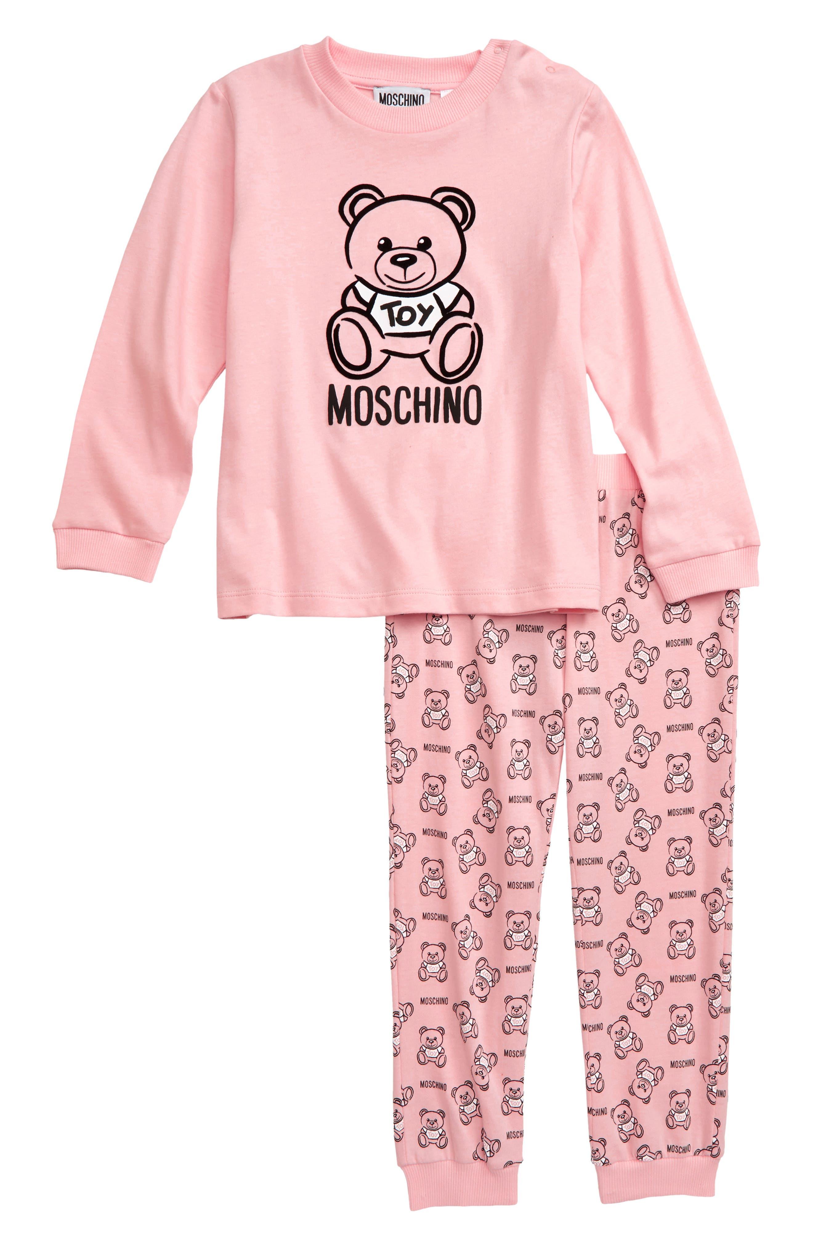 Toddler Girls Moschino Bear Tee  Sweatpants Set