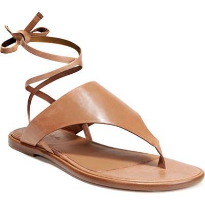 Vince Eastwood V-Strap Wraparound Sandal, Brown