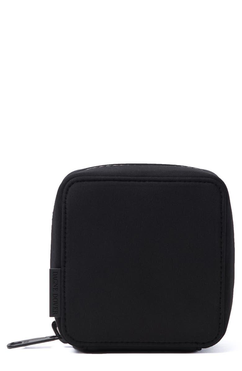 DAGNE DOVER Arlo Small Tech Pouch, Main, color, ONYX